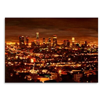 City of Angels City of Light Los Angeles' by M Bleichner Graphic Art on Canvas Size: 8