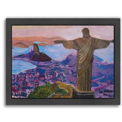 'Rio 1' by M Bleichner Framed Original Painting Size: 20.5