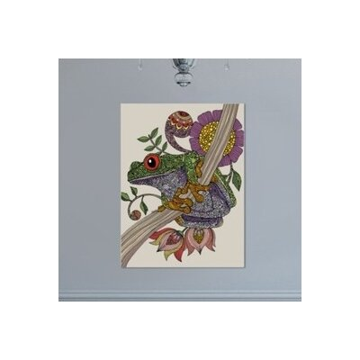 "Phileu Frog by Valentina Ramos Graphic Art Frame Color: No Frame, Size: 24"" H x 30"" W x 1.5"" D A117P056C2430"