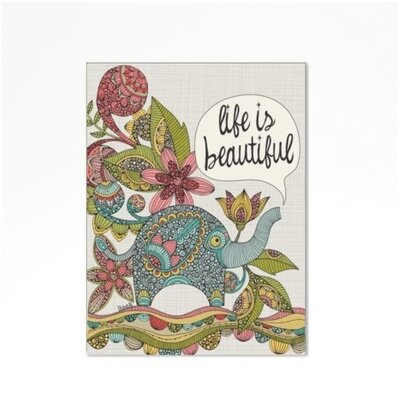 "Life is Beautiful Graphic Art Frame Color: No Frame, Size: 24"" H x 30"" W x 1.5"" D A117P076C2430"