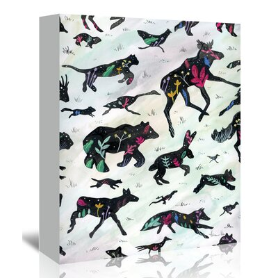 Fun Along the by Adrienne Vita Graphic Art on Wrapped Canvas Size: 30