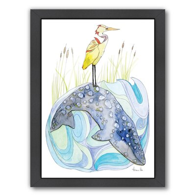 Perched by Adrienne Vita Framed Original Painting Size: 16.5