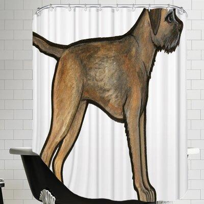 Lightle Border Terrier Shower Curtain