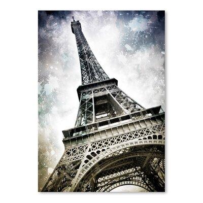 'Modern Art Paris Eiffel Tower Splashes' by Melanie Viola Graphic Art Size: 14