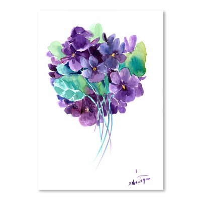 African Violets by Suren Nersisyan Painting Print Size: 16