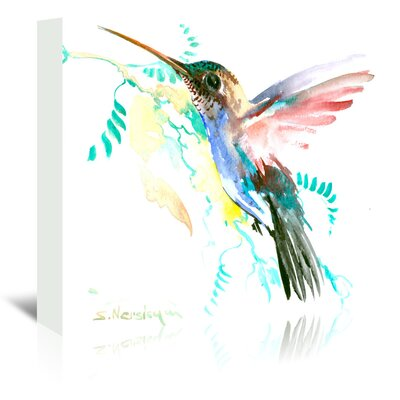Hummingbird Baby by Suren Nersisyan Painting Print on Wrapped Canvas Size: 32