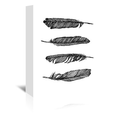 Feathers by Vera Mladenovic Graphic Art on Wrapped Canvas Size: 10