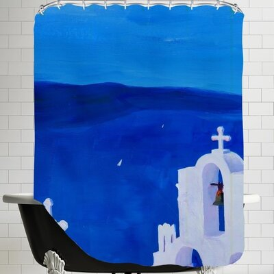 Markus Bleichner Charette Santorini Greece View Shower Curtain