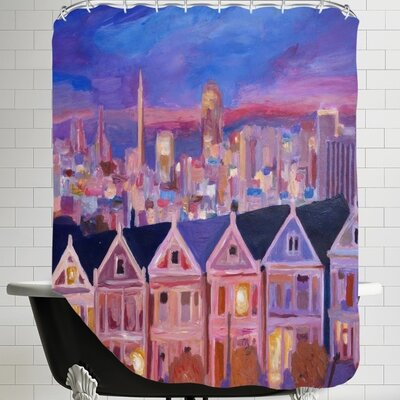 Markus Bleichner Hammack San Francisco Painted Ladies Shower Curtain
