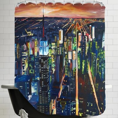 Markus Bleichner Friar Empire State Buildingg New City Night 2 Shower Curtain