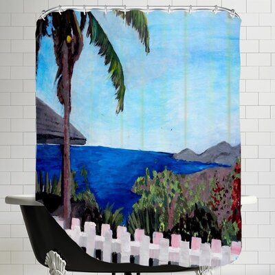 Markus Bleichner Bodin English Harbour Antigua Shower Curtain