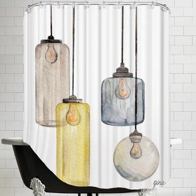 Gina Maher Deitch Glass Lanterns Shower Curtain