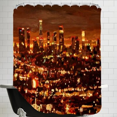 Markus Bleichner Seaman City of Angels City of Light Los Angeles Shower Curtain