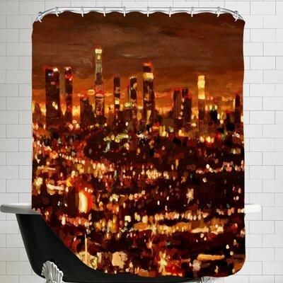 Markus Bleichner Seaman City of Angels City of Light Los Angeles Shower Curtain
