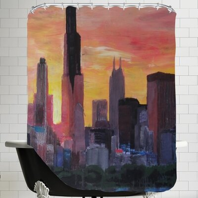Markus Bleichner Krieg Sunset Shower Curtain
