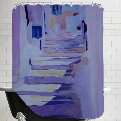 Markus Bleichner Helzer Enchanting Mykonos Greek Islands Stairs Shower Curtain