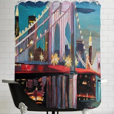 Markus Bleichner NYC Bridge 3 Shower Curtain