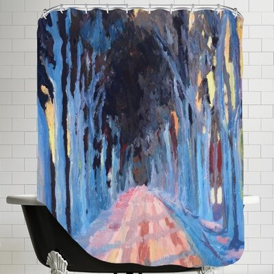 Markus Bleichner Winter Alley 2 Shower Curtain