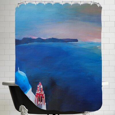 Markus Bleichner Santorini Greek Island View Shower Curtain