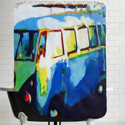 Markus Bleichner The Surf Bus Shower Curtain