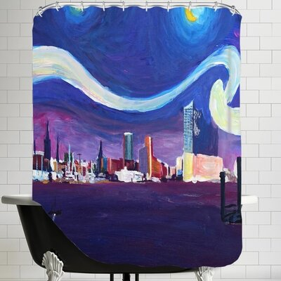 Markus Bleichner Starry Night in Hamburg Shower Curtain