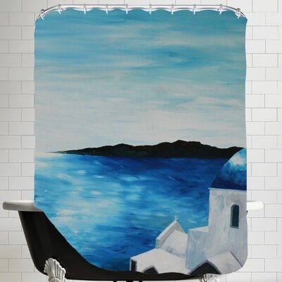 Markus Bleichner Santorini I Shower Curtain