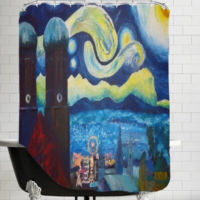 Markus Bleichner Starry Munich Shower Curtain