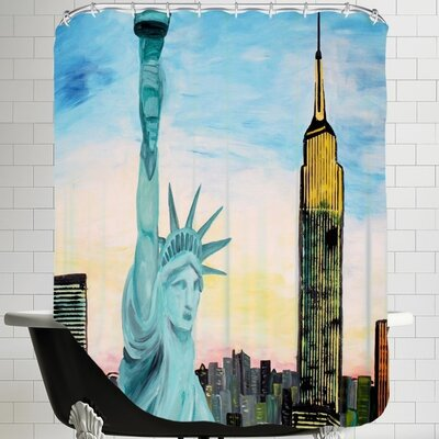 Markus Bleichner Statue of Liberty with View of New Shower Curtain
