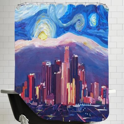 Markus Bleichner Starry Night in Los Angeles Shower Curtain