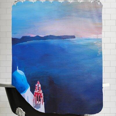 Markus Bleichner Santorini V Oia Shower Curtain