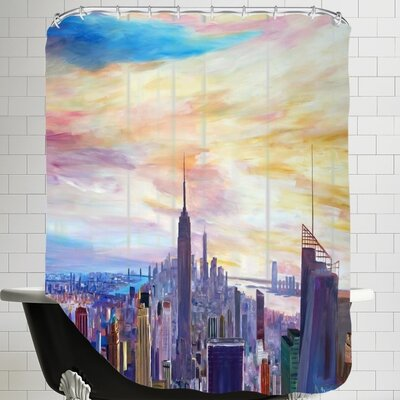 Markus Bleichner Mchugh NYC Panorama with Wtc Chrysler Empire State Shower Curtain