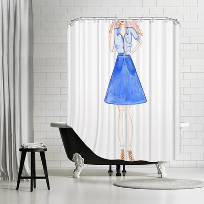 Palladium Double Denim Shower Curtain