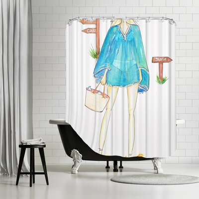 Palladium Beach Boho Shower Curtain