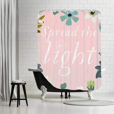 Goldsand Spread the Light Shower Curtain