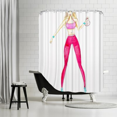 Palladium Kettlebell Shower Curtain