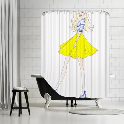 Palladium Yellow Skirt Shower Curtain