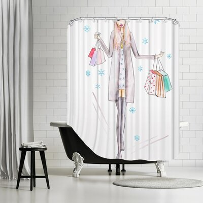 Palladium Gray Girl Shower Curtain