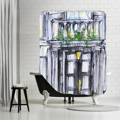 New Meadows Back Bay Brownstone Shower Curtain