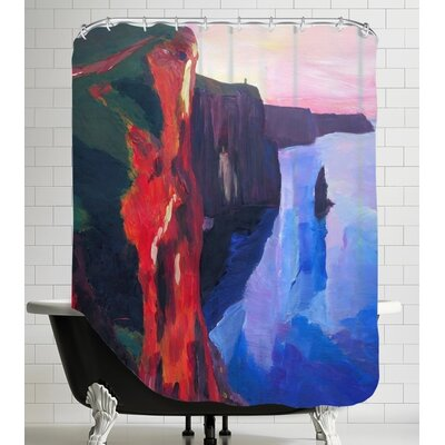 Markus Bleichner Asencio Cliffs of Moher in County Clare Ireland at Sunset Aillte an Mohair Shower Curtain
