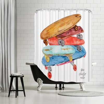 Gina Maher Furman Skate Boards Shower Curtain