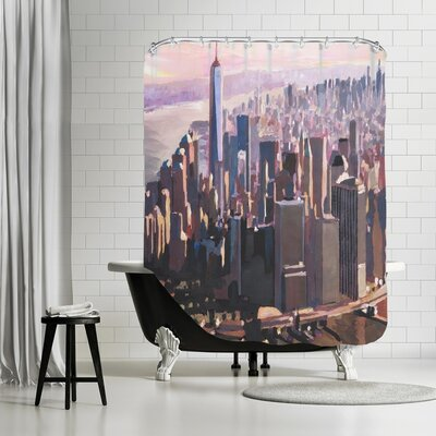 Markus Bleichner Leavell Manhattan Freedom Shower Curtain