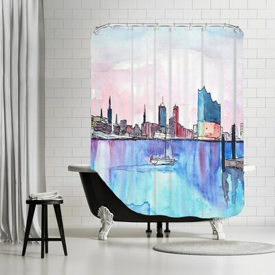 Markus Bleichner Guida Hamburg Harbour City Elbphilharmonie Shower Curtain