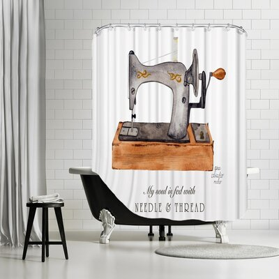 Gina Maher Eakin Sewing Machine Shower Curtain