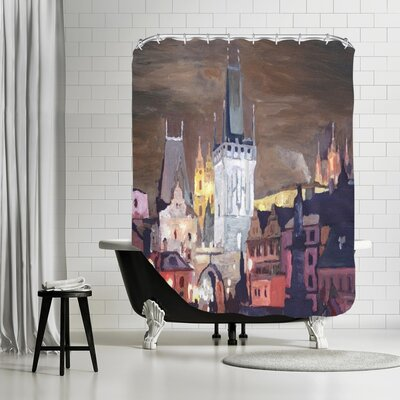 Markus Bleichner Evanoff Prague Charles Bridge Karluv Most Shower Curtain