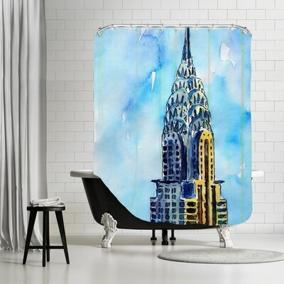 Markus Bleichner Keenan NYC Chrysler Building Solitary View Neu Shower Curtain