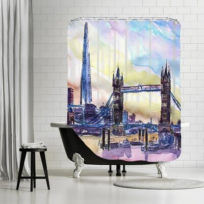 Markus Bleichner Lyles London England the Shard and Tower Bridge 2 Shower Curtain