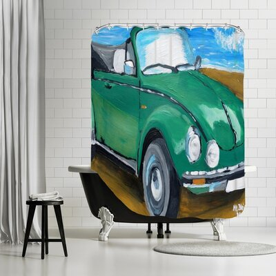 Markus Bleichner Mccants Green Bug at Beach Shower Curtain
