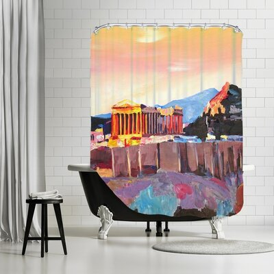 Markus Bleichner Bernhard Athens Greece Akropolis at Sunset Neu Shower Curtain