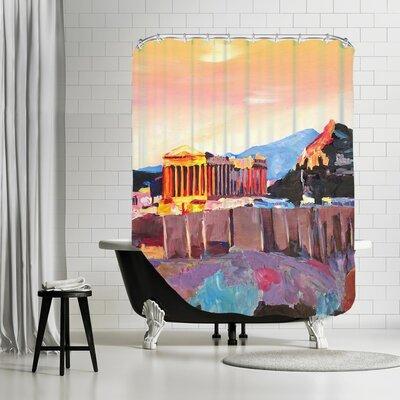 Markus Bleichner Bernhard Athens Greece Akropolis at Sunset Neu Shower Curtain