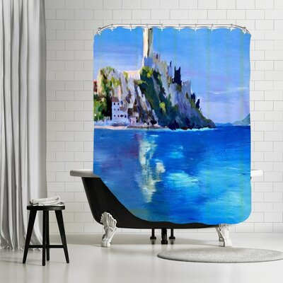 Markus Bleichner Brantley Malcesine with Castello Scaligero 2 Shower Curtain